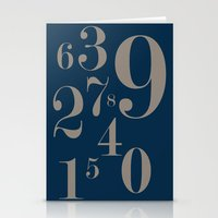 numbers Stationery Cards featuring Numbers  by Kimberly Jones