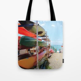 Kayaks in the Cinque Terre Tote Bag