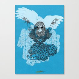 Mori Girl Winter Canvas Print
