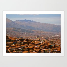 Above Cusco Art Print