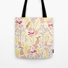 rabbits field Tote Bag