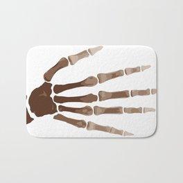 Isolated Boney Hand Bath Mat
