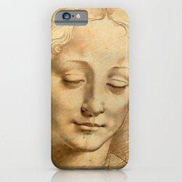 "Leonardo da Vinci ""Woman's head"" 1. iPhone Case"
