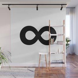 Infinity Symbol (Black & White) Wall Mural