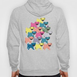 Colored Pugs Pattern - no1 Hoody
