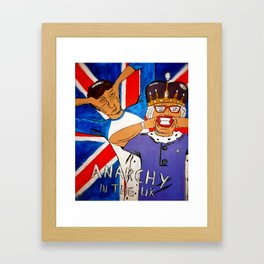 Anarchy in the UK Framed Art Print