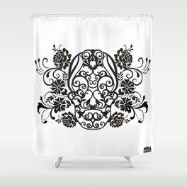 SKULL FLOWER 02 Shower Curtain