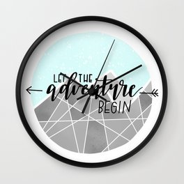 Let The Adventure Begin Wall Clock