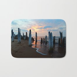 Pillars of the Past at Dusk Bath Mat