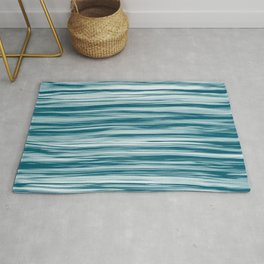 Tropical Dark Teal Inspired by Sherwin Williams 2020 Trending Color Oceanside SW6496 Soft Focus Motion Blue Water Color Blend Rug