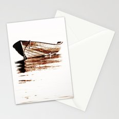 Wooden boat Stationery Cards