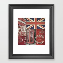 Great Britain London Union Jack England Framed Art Print