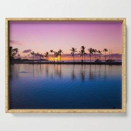 Sunset on Hawaiian Beach Serving Tray