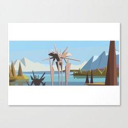 robot in tahoe Canvas Print