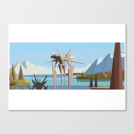 robot in tahoe Canvas Print