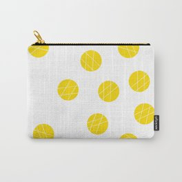 Dots pattern yellow Carry-All Pouch