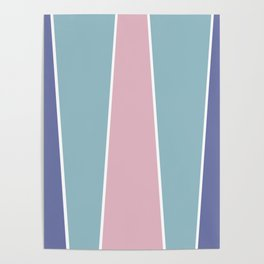 Cotton Candy Color Block Poster