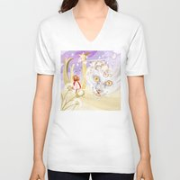 cheshire cat V-neck T-shirts featuring Cheshire Cat by Pavlo Tereshin