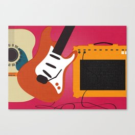 Turn up the music Canvas Print