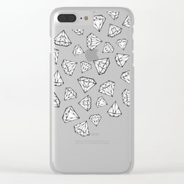 Diamond Shower Clear iPhone Case