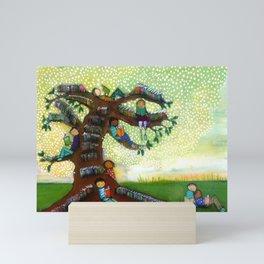 Tree of Books Mini Art Print