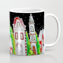 Snowy Village Coffee Mug