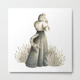 Victorian Cat Series 04 Metal Print