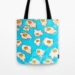 It's Raining Fried Eggs Tote Bag