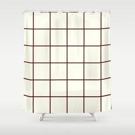 Chocolate and Cream, Ummy Window Panes Shower Curtain