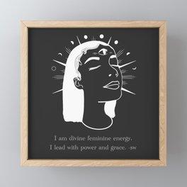 Divine Goddess Quote Framed Mini Art Print
