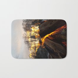 Fire prayers and setting suns Bath Mat