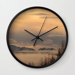 Winter Fog - II Wall Clock