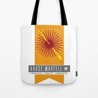 martell Tote Bags featuring House Martell Sigil by P3RF3KT