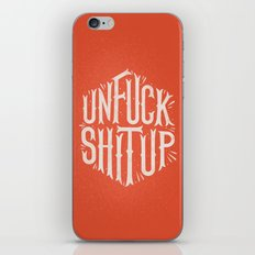 Unfuck shit up iPhone & iPod Skin