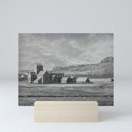 Iona Abbey, Isle of Iona, Scotland Mini Art Print