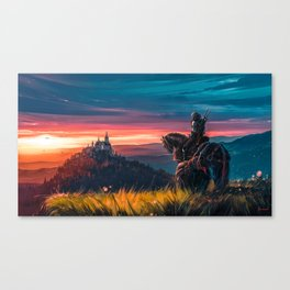 Witcher - Beyond Hill Canvas Print