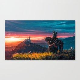 Witcher - Beyond Hill Canvas Print