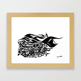 wave design 1.0 Framed Art Print