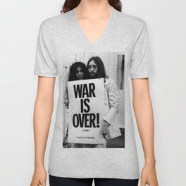 War is Over Unisex V-Neck