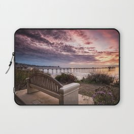 Images California USA La Jolla Nature sunrise and sunset Bay Bench Marinas Sunrises and sunsets Pier Berth Laptop Sleeve