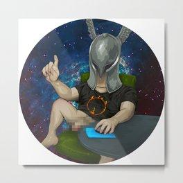 Sam The Shirtcockin Space Pimp Metal Print