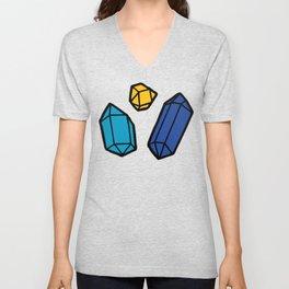 Bright Gems Pattern Unisex V-Neck