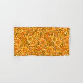 Flower power orange Hand & Bath Towel