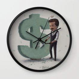 Green Fingers Wall Clock
