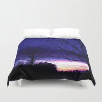 georgia Duvet Covers featuring Georgia Dusk by Ludwig Van Bacon
