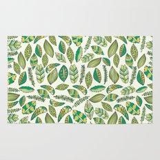 Tropical Jungle Leaves Rug
