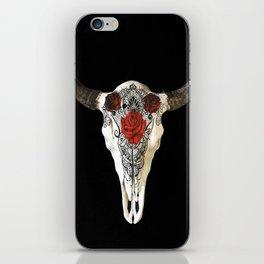 Bull Skull and Roses iPhone Skin