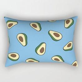 Avocado pattern in blue Rectangular Pillow