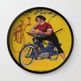 Vintage poster - Moped Wall Clock