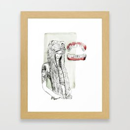 What great big teeth you have Framed Art Print